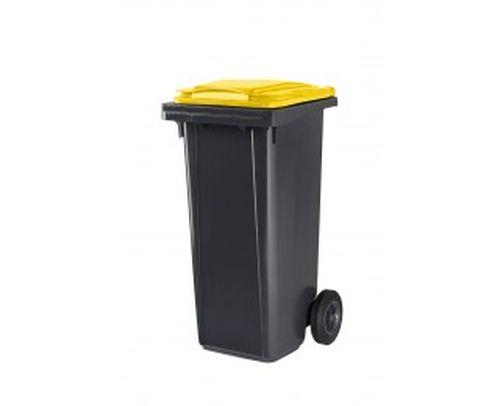 conteneur 120l couvercle jaune desvaux conteneur 120l couvercle jaune recyclage poubelles. Black Bedroom Furniture Sets. Home Design Ideas